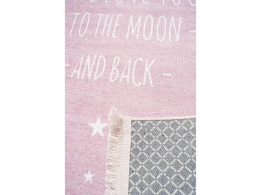 love you happy rugs moon teppich rosa wei 140x190cm. Black Bedroom Furniture Sets. Home Design Ideas