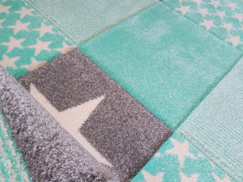 Livone happy rugs teppich starwalk mint 160x230cm - Teppich kinderzimmer mint ...