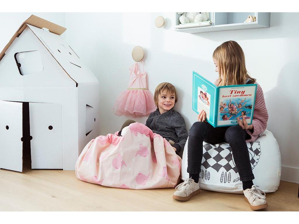 play go spielzeugsack spielmatte 140cm pink elephant. Black Bedroom Furniture Sets. Home Design Ideas