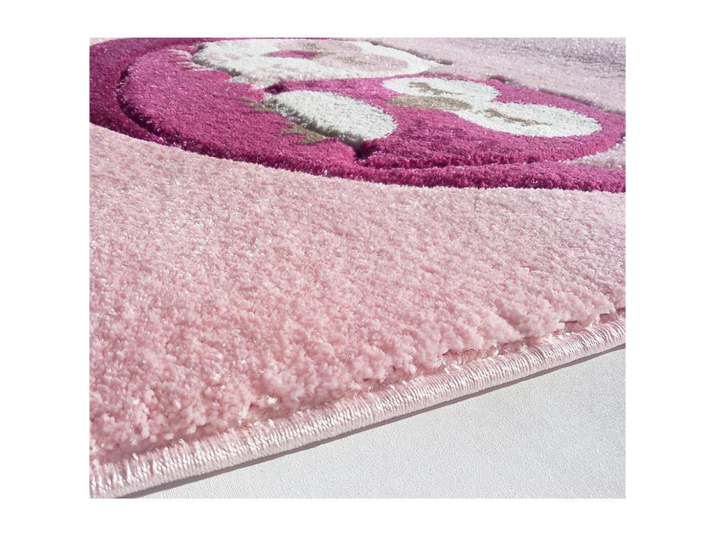 livone happy rugs teppich schlafende eule rosa 160x230cm. Black Bedroom Furniture Sets. Home Design Ideas