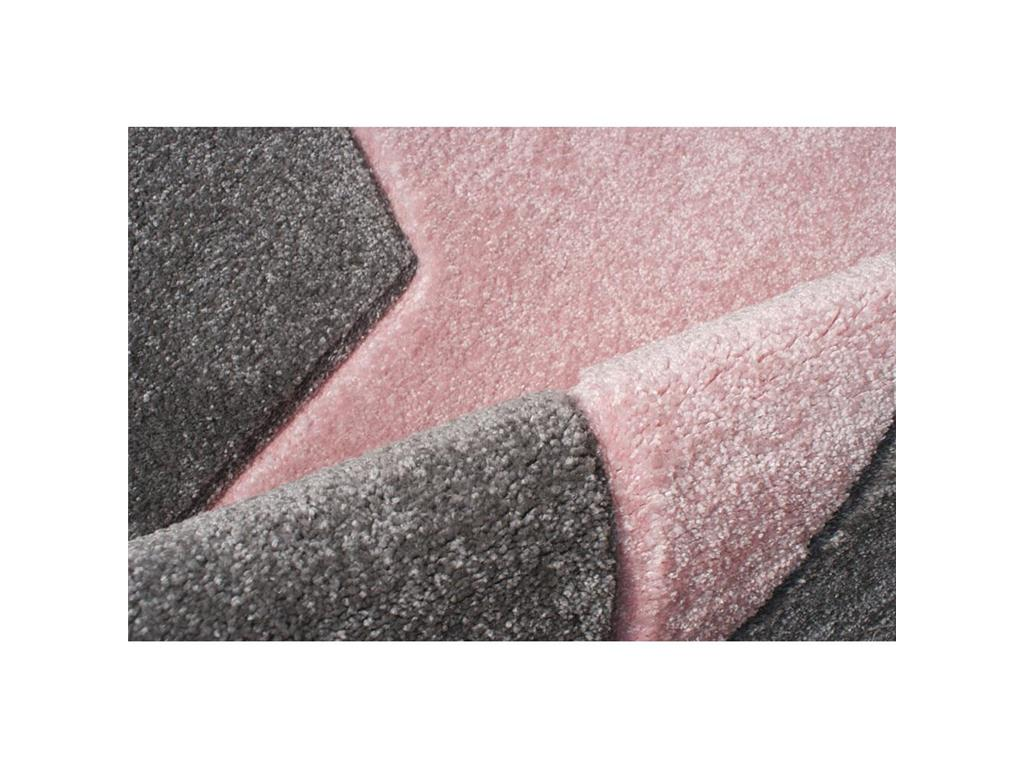 livone teppich star rund silbergrau rosa 133cm happy rugs. Black Bedroom Furniture Sets. Home Design Ideas