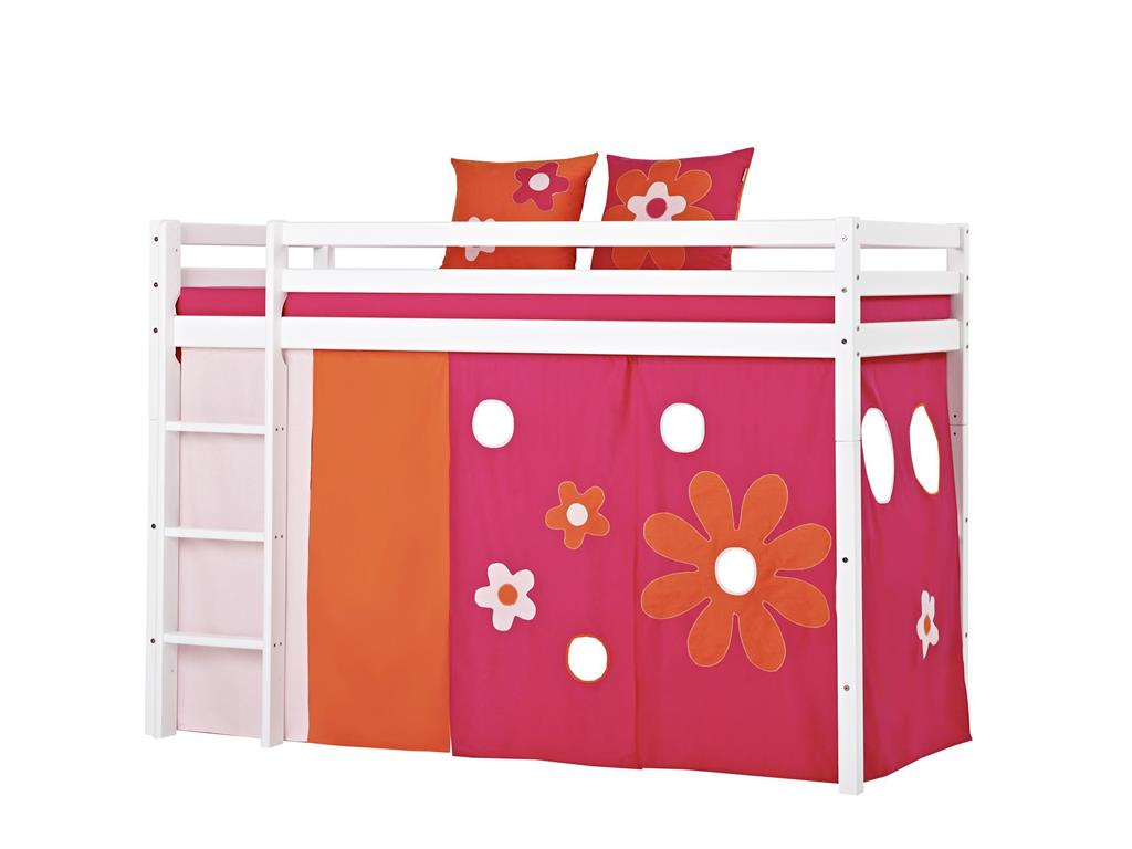 hoppekids flower power vorhang f r hochbett midisleeper etagenbett 90x200cm hoppekid. Black Bedroom Furniture Sets. Home Design Ideas