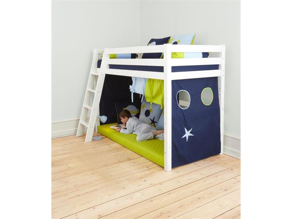 hoppekids space vorhang f r hochbett midisleeper etagenbett 90x200cm. Black Bedroom Furniture Sets. Home Design Ideas