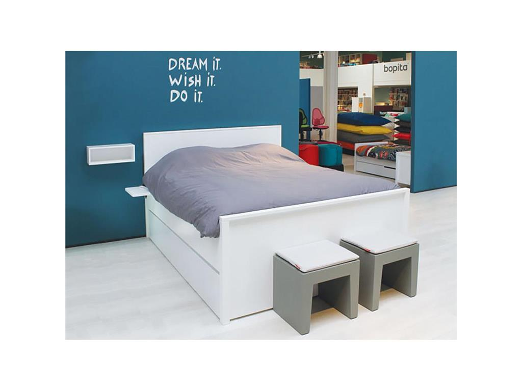 bopita bett alfa wei 140x200cm bopita mix match xl. Black Bedroom Furniture Sets. Home Design Ideas