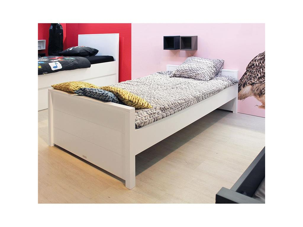 bopita bopita bett bobby wei mit niedrigem kopfteil 90x200cm. Black Bedroom Furniture Sets. Home Design Ideas