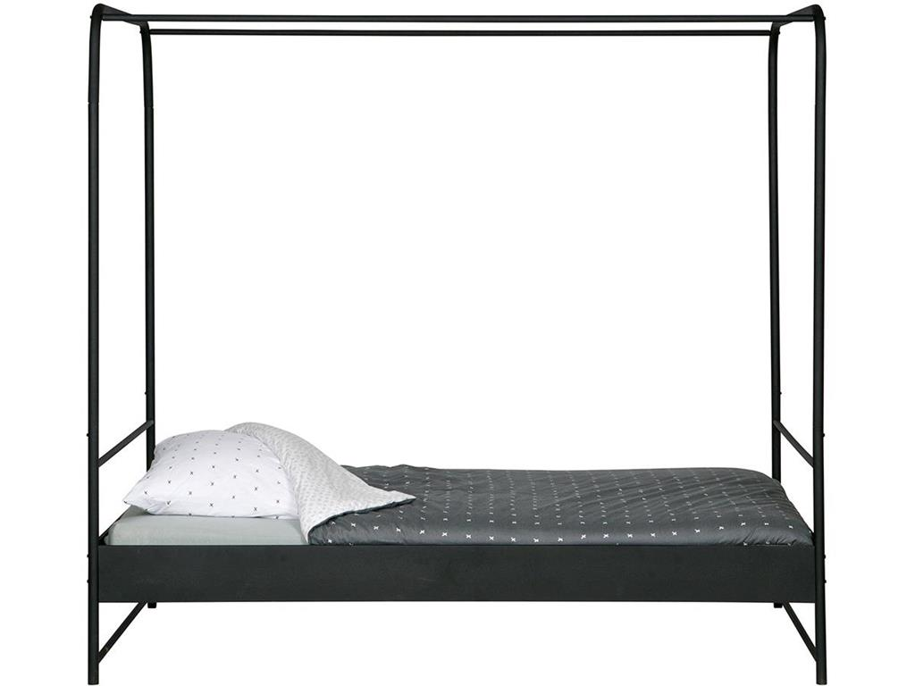 vtwonen himmelbett metall schwarz 120x200cm. Black Bedroom Furniture Sets. Home Design Ideas
