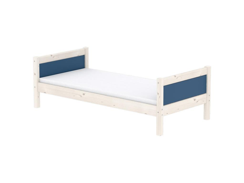 flexa harmony hochbett casa mit gerade leiter nordic blue. Black Bedroom Furniture Sets. Home Design Ideas