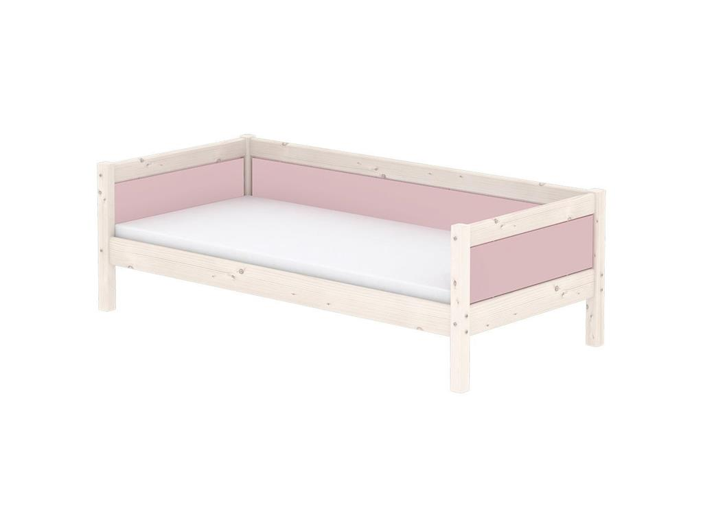 flexa harmony hochbett mit g stebett und schr ger leiter nordic rose. Black Bedroom Furniture Sets. Home Design Ideas