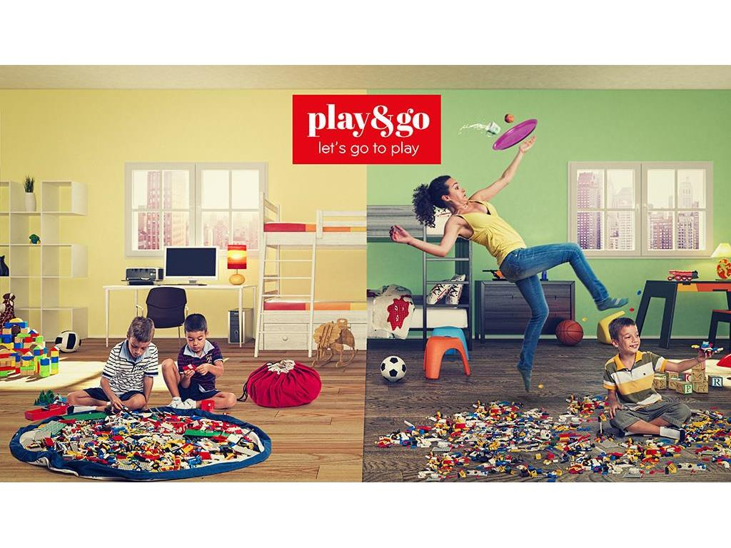 play go spielzeugsack spielmatte 140cm zigzag rot. Black Bedroom Furniture Sets. Home Design Ideas