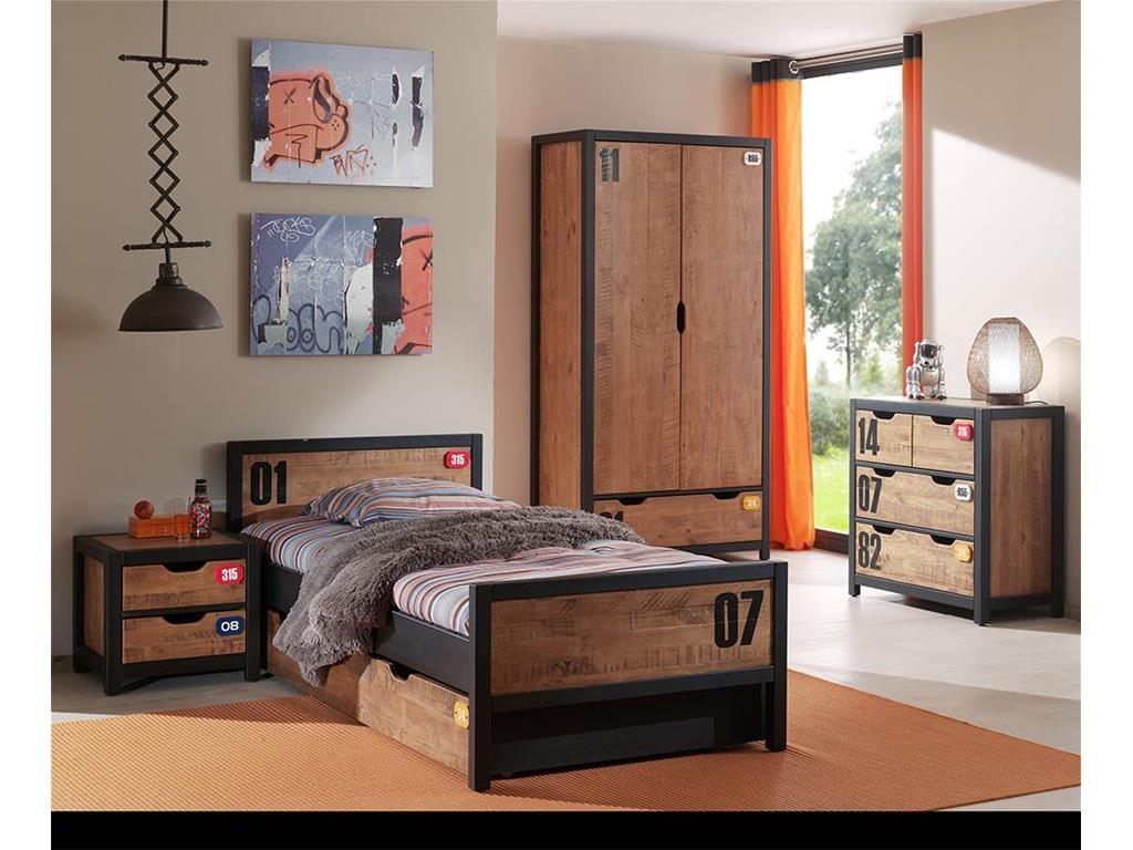 vipack alex kleiderschrank kiefer 2 t rig. Black Bedroom Furniture Sets. Home Design Ideas