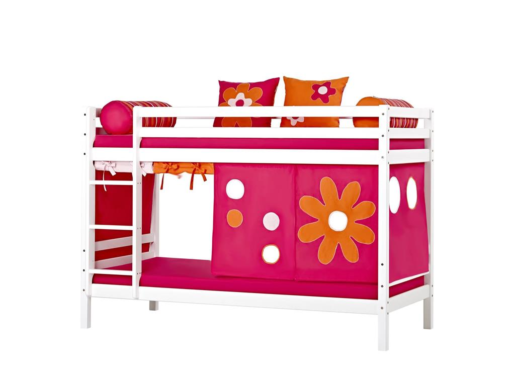 hoppekids flower power vorhang f r spielbett und etagenbett 70x190cm hoppekid. Black Bedroom Furniture Sets. Home Design Ideas