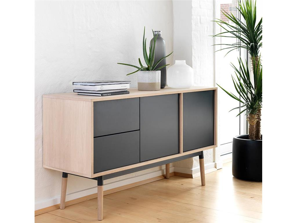 canett kommode milton mit 2 schubladen und 2 t ren. Black Bedroom Furniture Sets. Home Design Ideas