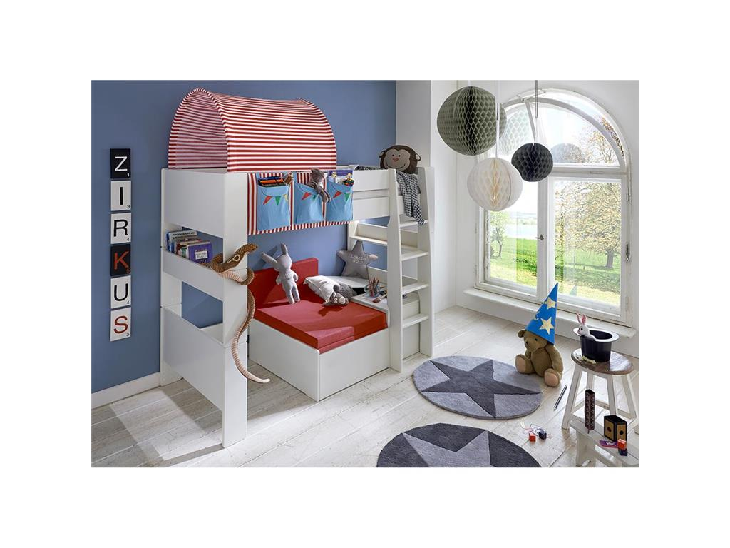 steens for kids sofabett mit matratze und stauraum f r hochbett. Black Bedroom Furniture Sets. Home Design Ideas