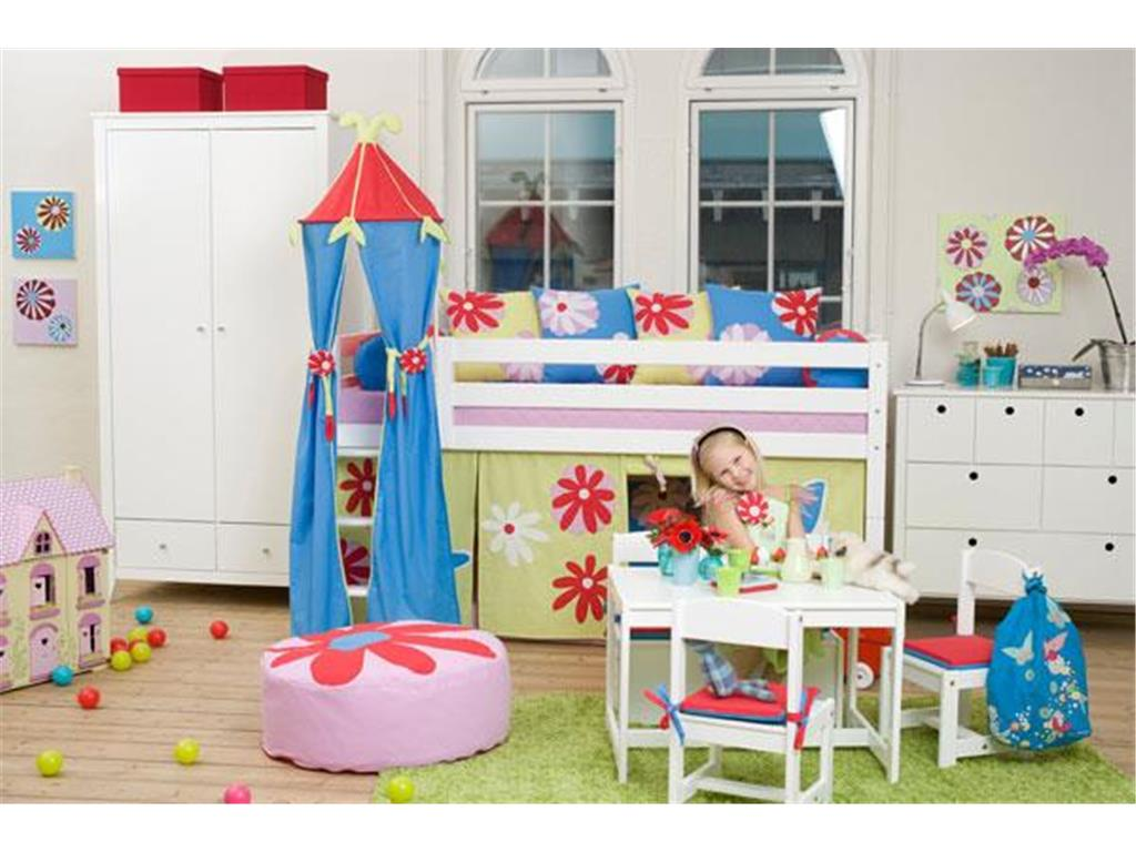 hoppekids turm f r spielbett halbhoch bett h he 185cm butterfly. Black Bedroom Furniture Sets. Home Design Ideas