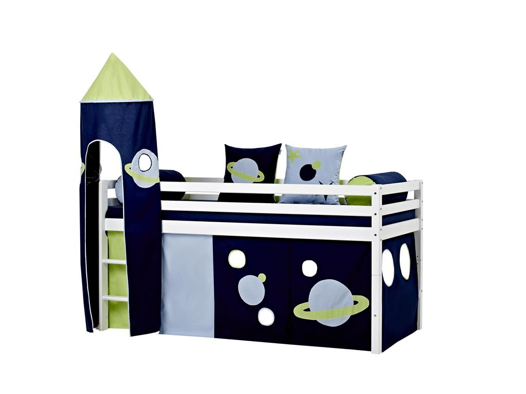 hoppekids space vorhang f r spielbett oder etagenbett 70x190cm. Black Bedroom Furniture Sets. Home Design Ideas
