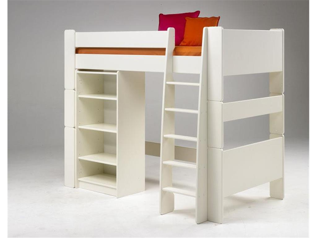 steens for kids hochbett mit gerader leiter mdf wei. Black Bedroom Furniture Sets. Home Design Ideas