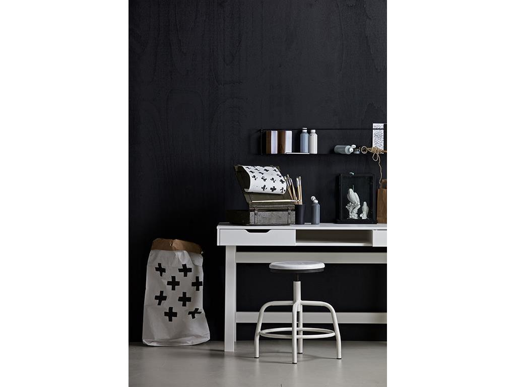 woood nikki schreibtisch wei mit 2 schubladen. Black Bedroom Furniture Sets. Home Design Ideas