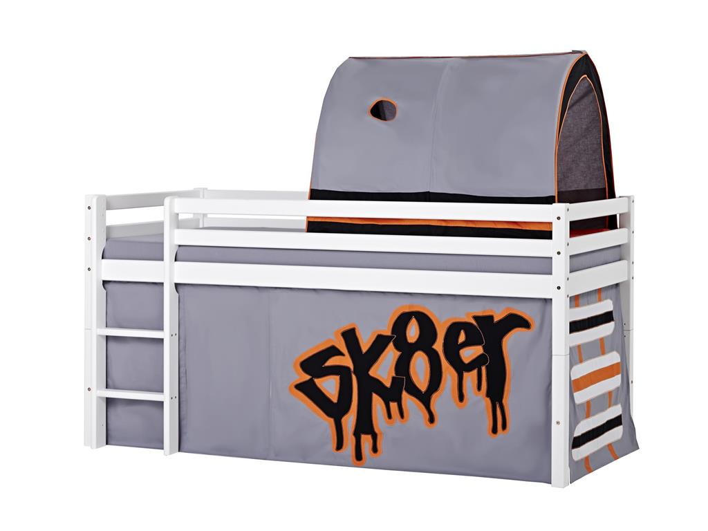hoppekids skater vorhang f r spielbett oder etagenbett 90x200cm. Black Bedroom Furniture Sets. Home Design Ideas